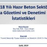 2018 Hazır Beton Sektörü PGD İstatistikleri